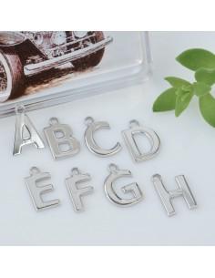 Ciondolo Lettera Iniziale 9 mm  in argento 925 per brecciale orecchini collana Made In Italia