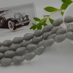goccia cristalli cinese briolette sfaccettata 8 x 12 MM col grigio chiaro filo 30 pz per orecchini collana per le tue creazioni