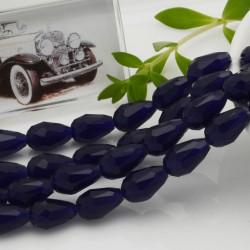 goccia cristalli cinese briolette sfaccettata 8 x 12 MM col blu filo 26 pz per orecchini collana per le tue creazioni