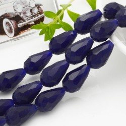goccia cristalli cinese briolette sfaccettata 11 x 15 MM col blu filo 24 pz per orecchini collana per le tue creazioni
