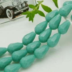 goccia cristalli cinese briolette sfaccettata 11 x 15 MM col tiffany filo 24 pz per orecchini collana per le tue creazioni