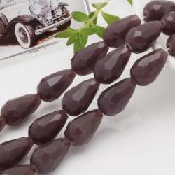 goccia cristalli cinese briolette sfaccettata 11 x 15 MM col Malva chiaro filo 24 pz per orecchini collana per le tue creazioni