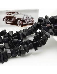 perline in pietra chips 8 x 12 mm PIETRA DEL SOLE BLU Sassolini per bigiotteria circa 170pz filo 90cm