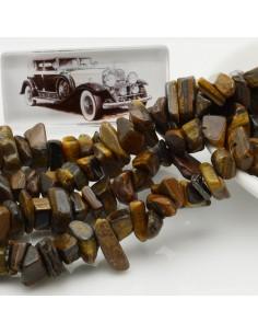 perline in pietra chips 8 x 12 mm Occhio di tigre Sassolini per bigiotteria circa 170pz filo 90cm