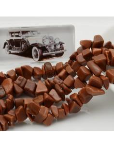 perline in pietra chips 8 x 12 mm Pietra del sole Sassolini per bigiotteria circa 170pz filo 90cm