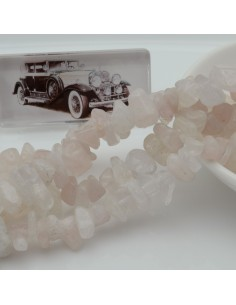 perline in pietra chips 8 x 12 mm QUARZO ROSA Sassolini per bigiotteria circa 170pz filo 90cm