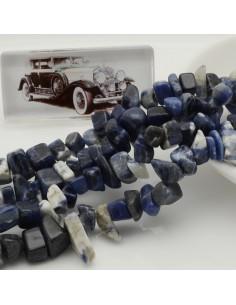 perline in pietra chips 8 x 12 mm SODALITE Sassolini per bigiotteria circa 170pz filo 90cm