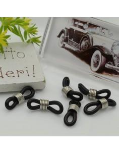 Gommini connettori per catenelle occhiali 5 x 20 mm argento nero per le tue creazione