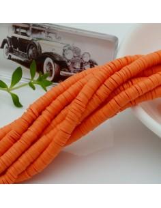 fili Rondelle Pasta Polimerica col arancione 1 x 4 mm 39/40 cm Polimero Perline Heishi per le tue creazione