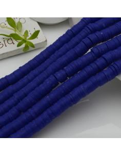 fili Rondelle Pasta Polimerica col blu 1 x 6 mm 39/40 cm Polimero Perline Heishi per le tue creazione