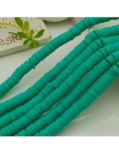 fili Rondelle Pasta Polimerica col tiffany 1 x 6 mm 39/40 cm Polimero Perline Heishi per le tue creazione