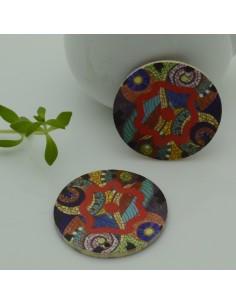 Ciondoli Elemento 6 FORI pendente in legno con disegno 30 mm per orecchini per le tue creazioni!!!