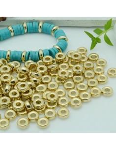 maxi confezione rondelle in resina col oro 2 x 6 mm 400pz per fai da te per le tue creazioni!!!