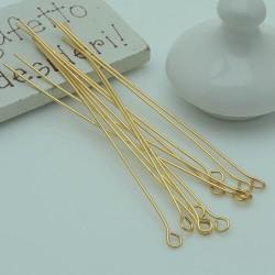 Chiodini Occhiello in Acciaio filo oro occhiello 3.4 mm per bigiotteria per le tue creazioni