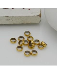 Distanziatori rondella oro in Acciaio anellini chiusi 20 pz per bigiotteria