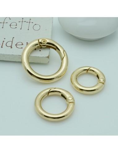 Chiusure Moschettone Ottima Qualità col oro chiaro 18mm 20 mm per borse bigiotteria fai da te.