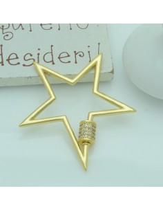 Chiusure a vite con zirconi per collane e bracciali col oro 40 mm per le tuo creazione