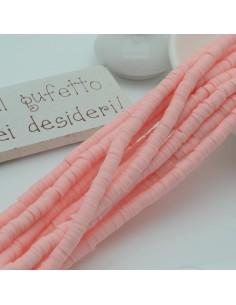 fili Rondelle Pasta Polimerica col rosa antico 1 x 4 mm 39/40 cm Polimero Perline Heishi per le tue creazione