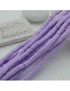fili Rondelle Pasta Polimerica col lilla 1 x 4 mm 39/40 cm Polimero Perline Heishi per le tue creazione
