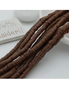 fili Rondelle Pasta Polimerica col marrone 1 x 4 mm 39/40 cm Polimero Perline Heishi per le tue creazione