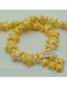 perline stella marine in ceramica col giallo 10 x 20 mm per gioielli le tue creazioni