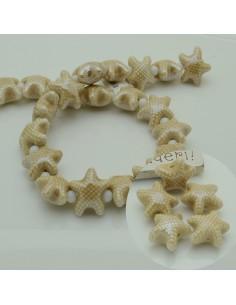 perline stella marine in ceramica col cammello 10 x 20 mm per gioielli le tue creazioni