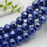 perle in ceramica luminosa forma zucca col blu chiaro 12 mm per gioielli le tue creazioni