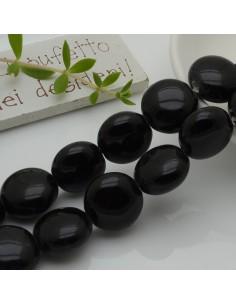perle in ceramica luminosa forma rotondo mezzo bombato col nero 18 mm per gioielli le tue creazioni