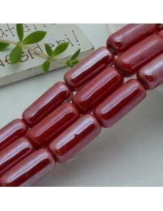 perle in ceramica luminosa forma CILINDRO 9 x 20 mm col rosso per gioielli le tue creazioni