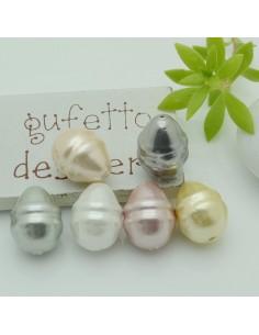 goccia perla di maiorca Perlato irregolare 12 x 17 mm varia colore 1 pz per tue creazioni
