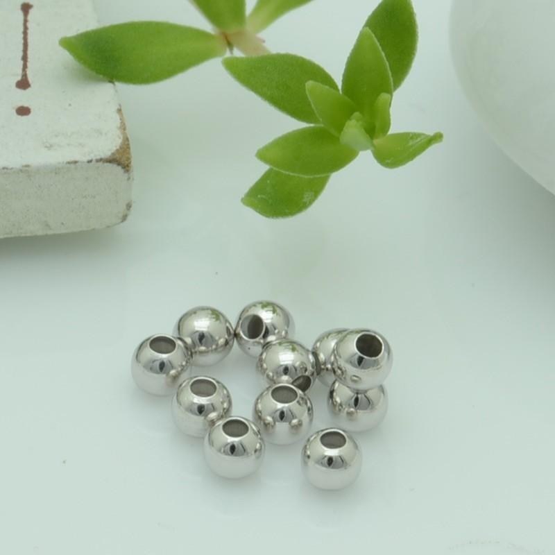Perle distanziatori a pallina lisci in argento 925% da 3 mm 30 pz per le tue gioielli