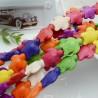 filo pietre Howlite tinti forma tartaruga 15 x 18 mm circa filo 40 cm 25 pz per fai da te per i tuoi gioielli
