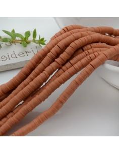 Pasta Polimerica fili Rondelle col Terra di Siena 1 x 4 mm 39/40 cm Polimero Perline Heishi per le tue creazione