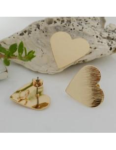 Orecchini a Perni ZAMA 19 x 22 mm con forma a cuore per i tuoi orecchini alla moda