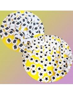 12 PZ PERLINE PERLE stelle e Hashtag IN PLASTICA BIANCO 7mm PER BIGIOTTERIA per le tue creazioni!!!