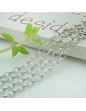 Catena Rolo anella ovali 3 mm in argento 925% per 50 cmCatena argento 925% anelle ovali sfaccettata 1.8 x 2 mm in per 50 cm