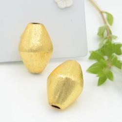perle satinato forma ovale colore oro 15 x 21 mm 1 pz in ottone idea per orecchini e collana fai da te