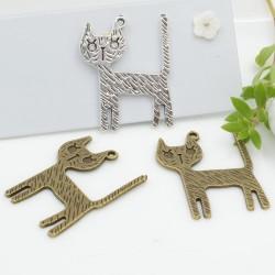 GATTI gatto Ciondoli Animali 1pz 28 x 34 mm per bigiotteria per le tue creazioni