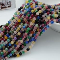 pietra dure agata tondo sfaccettata multicolor 4 mm 94 pz 39 cm per i tuoi gioielli
