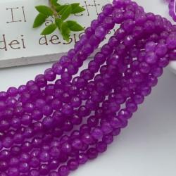 pietra dure agata tondo sfaccettata col viola 4 mm 94 pz 39 cm per i tuoi gioielli