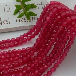 pietra dure agata tondo sfaccettata col rubino 4 mm 94 pz 39 cm per i tuoi gioielli