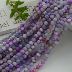 pietra dure agata tondo sfaccettata col viola mix 4 mm 94 pz 39 cm per i tuoi gioielli