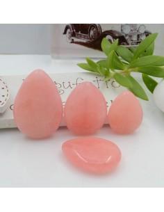pietre dure giada rosa gocce piatta foro passante a lisci varia misura per gioielli