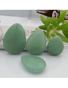pietre dure giada gocce piatta foro passante a sfaccettata verde chiaro varia misura per gioielli