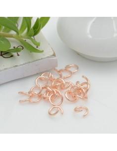 anellini aperti in acciaio oro rosa misura varia per fai da te