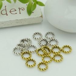 Distanziatori anellini chiusi con fantasia 6 mm 50 pz in metallo per bigiotteria per le tue creazioni!