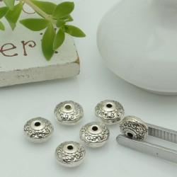 Distanziatori Perline con fantasia 6.8 x 4 mm 11 pz in metallo per bigiotteria per le tue creazioni!