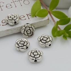 Distanziatori Perline piatto 9.4 x 4 mm 9 pz a forma di fiore in metallo per bigiotteria per le tue creazioni!