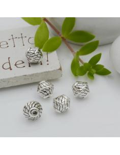 Distanziatori Perline con fantasia 7.5 x 7 mm 7 pz in metallo per bigiotteria per le tue creazioni!