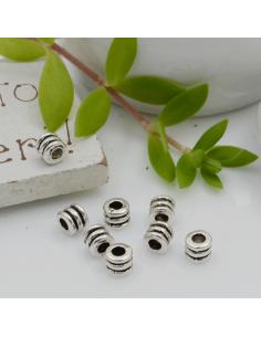 Distanziatori Perline con fantasia 3.5 x 4 mm 35 pz in metallo per bigiotteria per le tue creazioni!